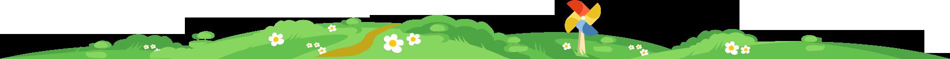zielona trawka z wiatraczkiem